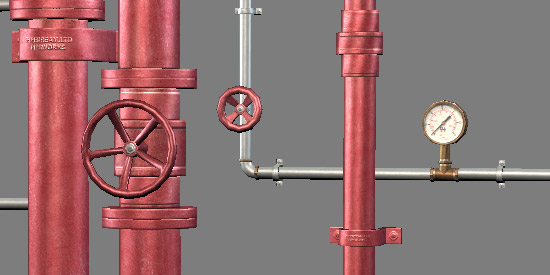 Game Modular Pipes Example