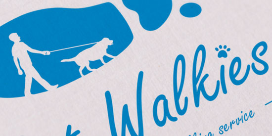 Logo Business Card Sample - Pet Walkies